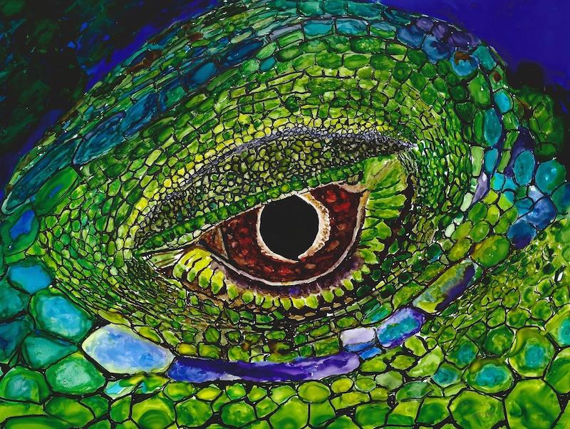 iguana eye painting - photo #18