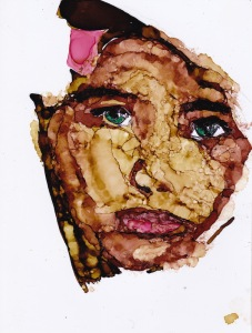 the girl became mosaic copy