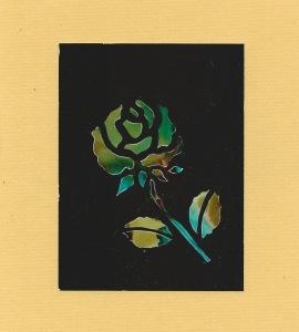 Stencil flower