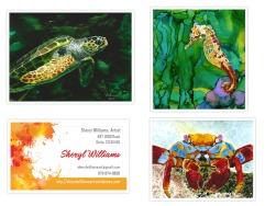 G. Sea Life: Turtle, Seahorse, Crab