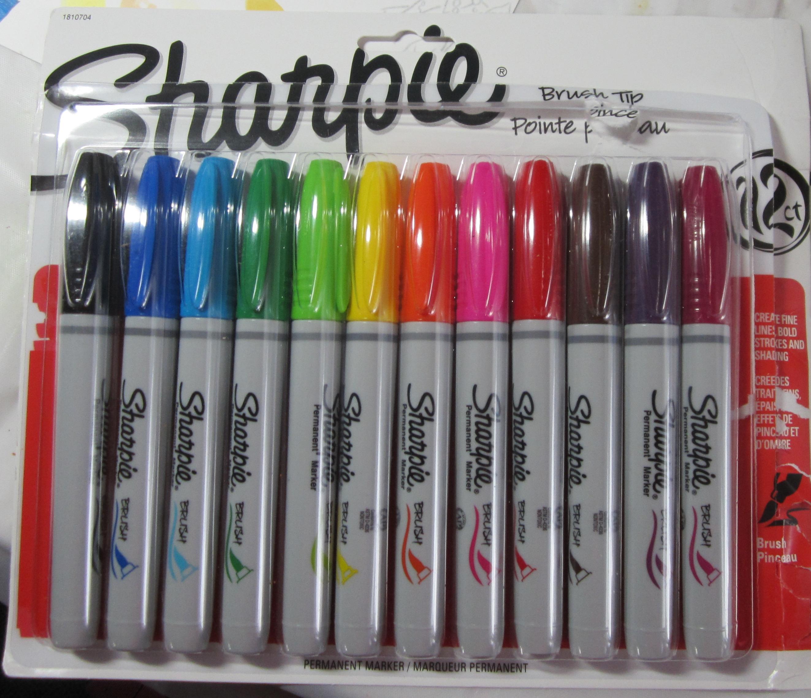 Sharpie Brush Tips